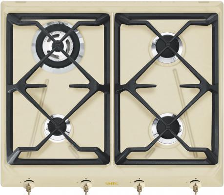 Варочная панель газовая Smeg SRV864POGH бежевый варочная панель электрическая smeg sim562b черный