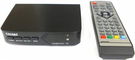 Тюнер цифровой DVB-T2 Сигнал Универсал-02 черный