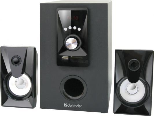 Колонки DEFENDER X100 5+2x2.5 Вт черный 65520 колонки defender blaze 30 2x5 20 вт серебристый 65026