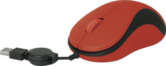 Мышь проводная Defender MS-960 красный USB 52961