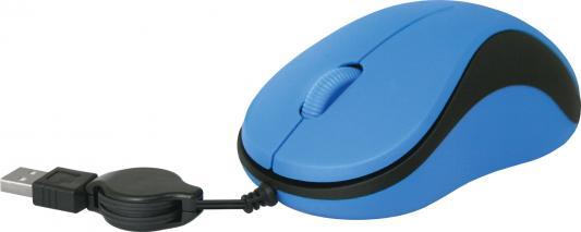 Мышь проводная Defender MS-960 синий USB
