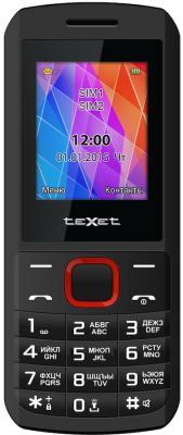 """Мобильный телефон Texet TM-126 черный красный 1.77"""""""