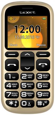 Мобильный телефон Texet TM-B306 золотистый 2.2 texet dvr 580fhd