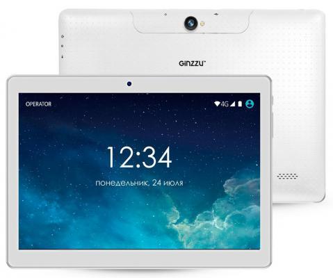 "Планшет GINZZU GT-1040 10.1"" 16Gb белый Wi-Fi 3G Bluetooth Android GT-1040"