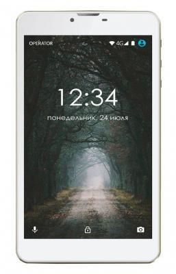 "Планшетный ПК Ginzzu GT-7110 Gold 7"" LTE 1280*800 IPS/1Gb/8Gb/Spreadtrum SC9832 1.3GHz Quad/2SIM/LTE/3G/Wi-Fi/GPS/BT/Android 6.0"