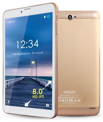"Планшет GINZZU GT-8010 8"" 16Gb золотистый Wi-Fi 3G Bluetooth LTE Android GT-8010-1 Gold"