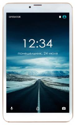 Планшет GINZZU GT-8005 8 8Gb золотистый Wi-Fi Bluetooth 3G Android GT-8005 Gold планшет ginzzu gt 8005 8 0 8gb 3g 4892126311216