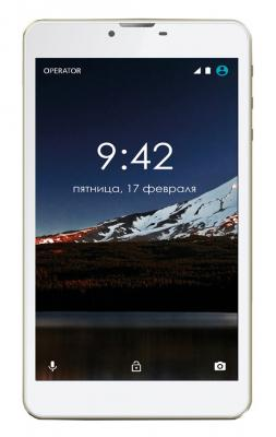 Планшет GINZZU GT-7105 7 8Gb золотистый Wi-Fi 3G Bluetooth Android GT-7105 Gold планшет ginzzu gt 8005 8 0 8gb 3g 4892125311217