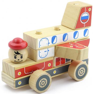 Конструктор Мир деревянных игрушек Автомобиль-конструктор 4 Д062 мир деревянных игрушек конструктор паровозик д018