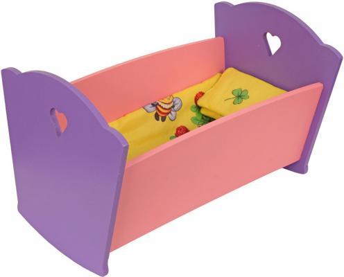 Набор мебели Краснокамская игрушка Кроватка с постельным бельем КМ-02 логическая игрушка краснокамская игрушка ли 01 лягушка