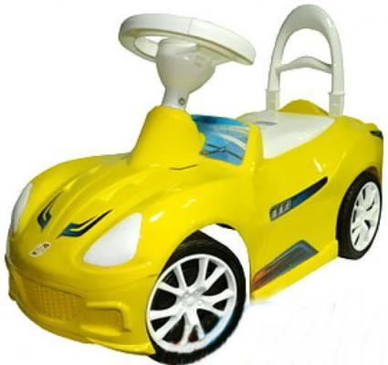 Каталка R-Toys Спорткар ОР160 желтый от 10 месяцев пластик