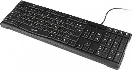 Клавиатура проводная Gembird KB-8352U-BL USB черный