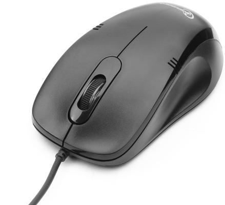 Мышь проводная Gembird MOP-100 чёрный USB цена и фото