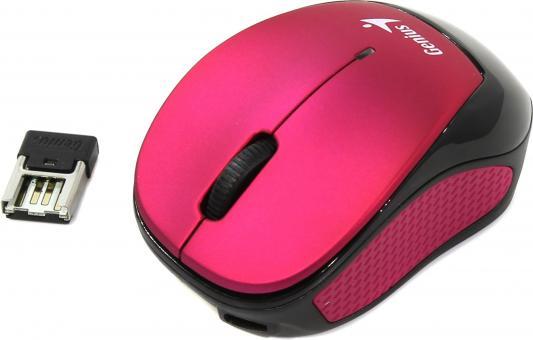 Мышь беспроводная Genius Micro Traveler 9000R V3 розовый чёрный USB