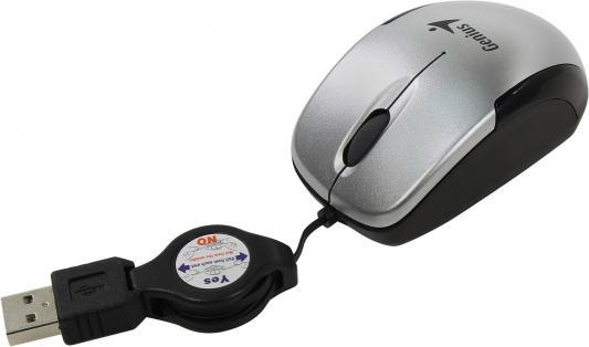 Мышь проводная Genius Micro Traveler V2 (31010125102) серебристый USB цены