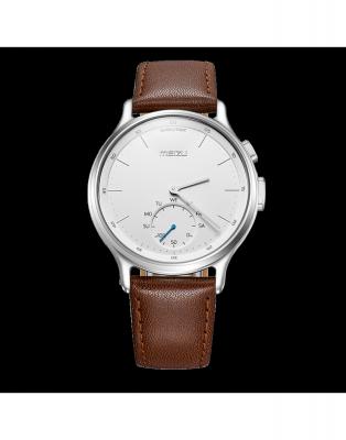Смарт-часы Meizu Mix кожаный черный ремешок в комплекте MZWA1S_Leather_Silver