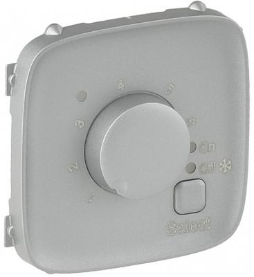 Лицевая панель Legrand Valena Allure термостата для теплых полов алюминий 755327