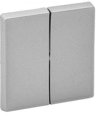 Лицевая панель Legrand Valena Life выключателя двухклавишного алюминий 755022