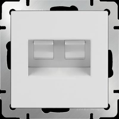 Розетка двойная Ethernet RJ-45 белая WL01-RJ45+RJ45 4690389073526 enc28j60 ethernet lan network module spi interface rj45 connector ethernet to serial converter for arduino 51 avr