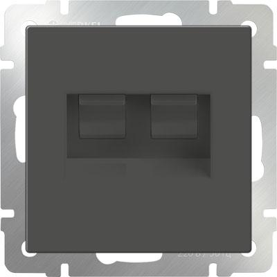 Розетка двойная Ethernet RJ-45 серо-коричневый WL07-RJ45+RJ45 4690389073557 enc28j60 ethernet lan network module spi interface rj45 connector ethernet to serial converter for arduino 51 avr
