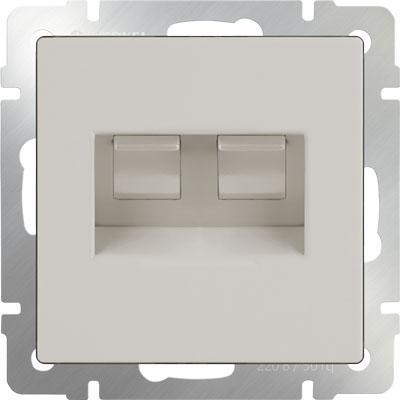 Розетка двойная Ethernet RJ-45 слоновая кость WL03-RJ45+RJ45 -ivory 4690389073533 enc28j60 ethernet lan network module spi interface rj45 connector ethernet to serial converter for arduino 51 avr