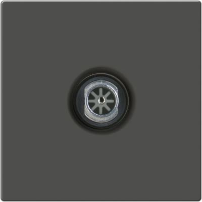 ТВ-розетка проходная серо-коричневый WL07-TV-2W 4690389073502