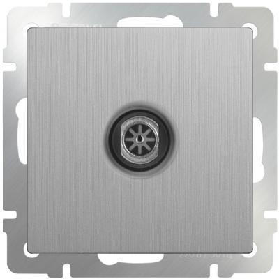 ТВ-розетка оконечная серебряная рифленая WL09-TV 4690389085185