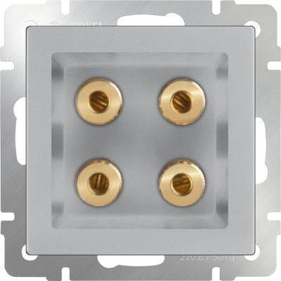 Картинка для Акустическая розетка х4 серебряный WL06-AUDIOx4 4690389059292