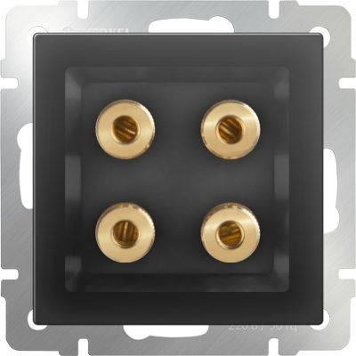 Акустическая розетка х4 серо-коричневая WL07-AUDIOx4 4690389059308  werkel акустическая розетка х4 серо коричневая wl07 audiox4 4690389059308