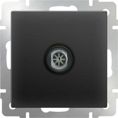 ТВ-розетка оконечная черный матовый WL08-TV 4690389054273 тв розетка abb bjb basic 55 шато оконечная цвет черный