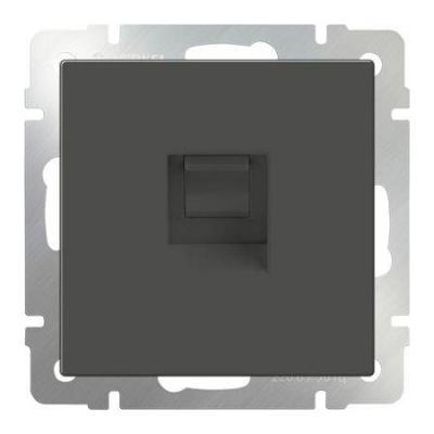 Телефонная розетка RJ-11 серо-коричневая WL07-RJ-11 4690389054082 телефонная розетка abb bjb basic 55 шато 1 разъем цвет черный