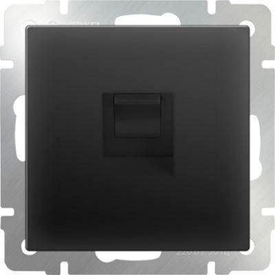 Телефонная розетка RJ-11 черный матовый WL08-RJ-11 4690389054242