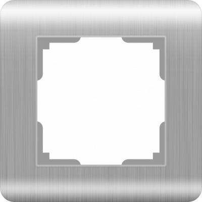 Рамка Stream на 1 пост серебряный WL12-Frame-01 4690389076367
