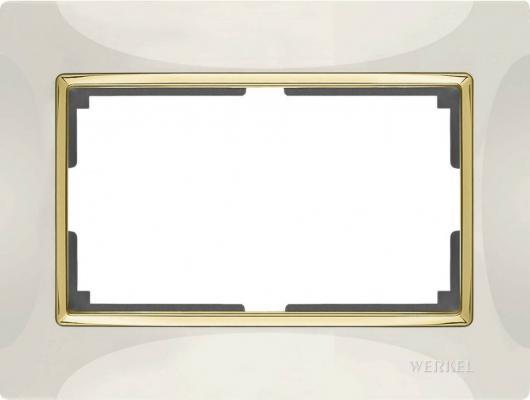 Рамка Snabb для двойной розетки слоновая кость/золото WL03-Frame-01-DBL-ivory/GD 4690389083853 цена