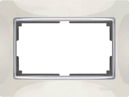 Рамка Snabb для двойной розетки слоновая кость WL03-Frame-01-DBL-ivory 4690389073144 цена