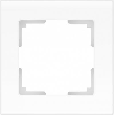 Рамка Favorit на 1 пост белый матовый WL01-Frame-01 4690389098550 рамка favorit на 3 поста белый 4690389061226