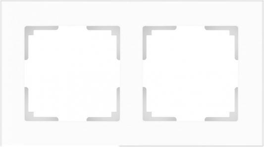 Рамка Favorit на 2 поста белый матовый WL01-Frame-02 4690389098581