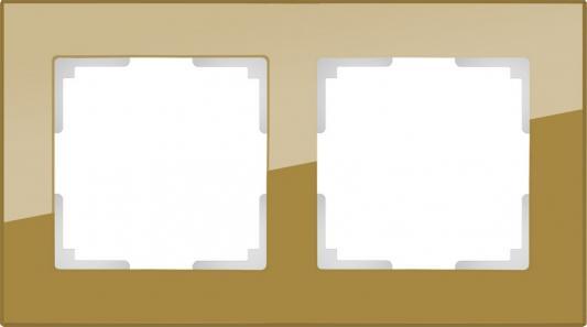 Рамка Favorit на 2 поста бронзовый WL01-Frame-02 4690389098598 рамка favorit на 3 поста белый 4690389061226