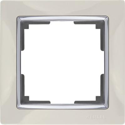 Рамка Snabb Basic на 1 пост слоновая кость WL03-Frame-01 4690389098703