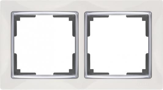 Картинка для Рамка Snabb Basic на 2 поста белый WL03-Frame-02 4690389098734