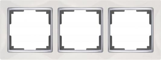 Картинка для Рамка Snabb Basic на 3 поста белый WL03-Frame-03 4690389098758