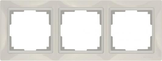 Рамка Snabb Basic на 3 поста слоновая кость WL03-Frame-03 4690389098741