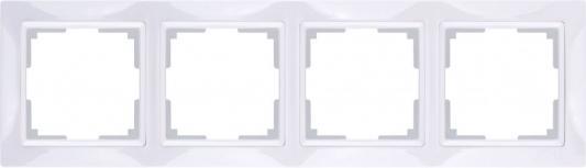 Рамка Snabb Basic на 4 поста белый WL03-Frame-04 4690389098772  цена и фото