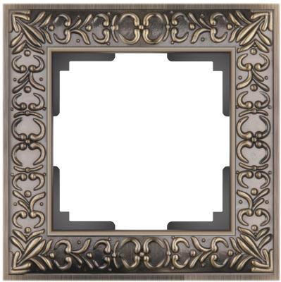 Рамка Antik на 1 пост бронза WL07-Frame-01 4690389054358 werkel рамка antik на 1 пост бронза werkel wl07 frame 01 4690389054358