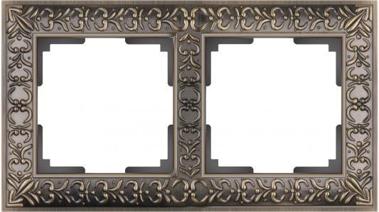 Рамка Antik на 2 поста бронза WL07-Frame-02 4690389054365 schneider merten sd antik беж рамка 1 ая термопласт mtn483144