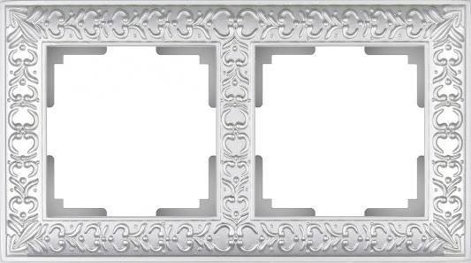 Рамка Antik на 2 поста жемчужный WL07-Frame-02 4690389063503 schneider merten sd antik беж рамка 1 ая термопласт mtn483144