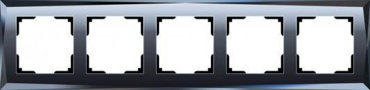 Рамка Diamant на 5 постов черный WL08-Frame-05 4690389063664 diamant мозаика собака