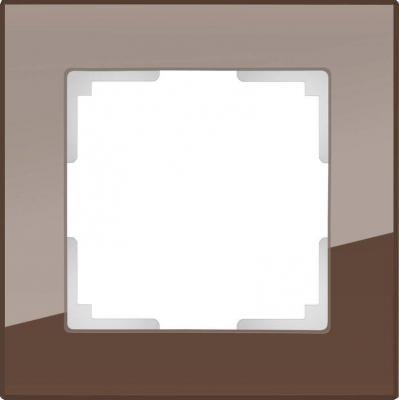 Рамка Favorit на 1 пост мокко WL01-Frame-01 4690389063749 рамка favorit на 1 пост бронзовый wl01 frame 01 werkel 1209837