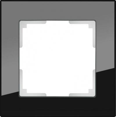 Рамка Favorit на 1 пост черный WL01-Frame-01 4690389063398 рамка favorit на 1 пост бронзовый wl01 frame 01 werkel 1209837