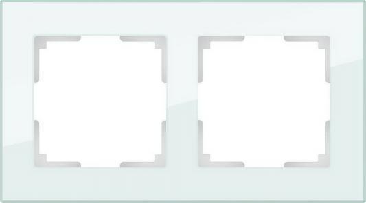 Рамка Favorit на 2 поста натуральное стекло WL01-Frame-02 4690389060175 рамка favorit на 3 поста белый 4690389061226